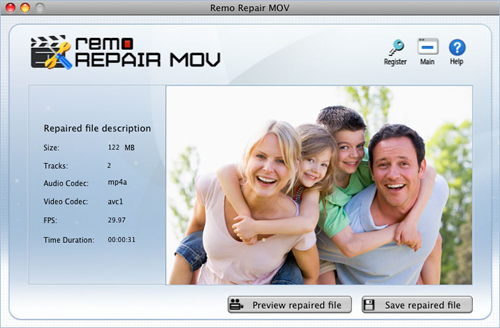 Repair MP4 Video Mac OS X - Summary report
