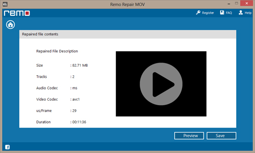 Repair Incomplete Mp4 Video File - Summary report